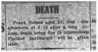 Frank Nelson death notice